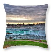 002 View Of Horseshoe Falls From Terrapin Point Series Throw Pillow