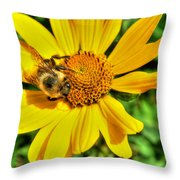 003 Busy Bee Series Throw Pillow
