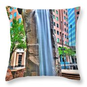 003 Fountain Plaza  Throw Pillow