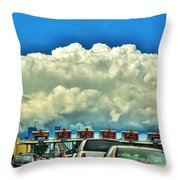 003 Grand Island Bridge Series  Throw Pillow