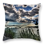 003 Peace Bridge Series II Beautiful Skies Throw Pillow