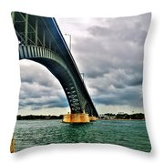 003 Stormy Skies Peace Bridge Series Throw Pillow