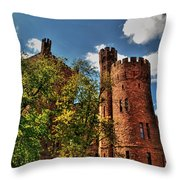 003 The 74th Regimental Armory In Buffalo New York Throw Pillow