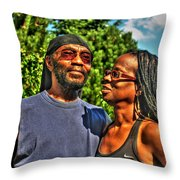 003 The Lion And Lioness Throw Pillow