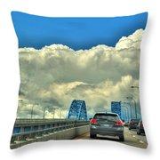 004 Grand Island Bridge Series  Throw Pillow