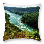 004 Niagara Gorge Trail Series  Throw Pillow