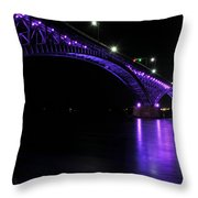 004 Peace Bridge Honoring Breast Cancer 2012 Series Throw Pillow