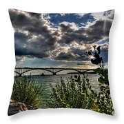004 Peace Bridge Series II Beautiful Skies Throw Pillow