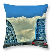 005 Grand Island Bridge Series  Throw Pillow