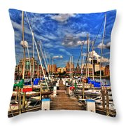 005 On A Summers Day  Erie Basin Marina Summer Series Throw Pillow