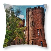 005 The 74th Regimental Armory In Buffalo New York Throw Pillow