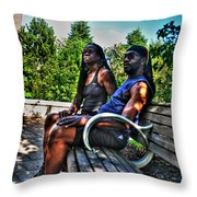 005 The Lion And Lioness Throw Pillow
