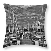 005bw On A Summers Day  Erie Basin Marina Summer Series Throw Pillow