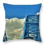 006 Grand Island Bridge Series Throw Pillow