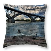 006 Peace Bridge Series II Beautiful Skies Throw Pillow