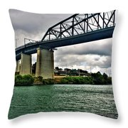 006 Stormy Skies Peace Bridge Series Throw Pillow