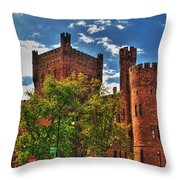 006 The 74th Regimental Armory In Buffalo New York Throw Pillow