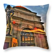 006 The Hiker At Sunrise Throw Pillow