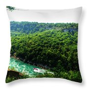 007 Niagara Gorge Trail Series  Throw Pillow