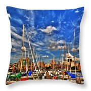 007 On A Summers Day  Erie Basin Marina Summer Series Throw Pillow