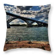 007 Peace Bridge Series II Beautiful Skies Throw Pillow