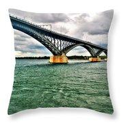 007 Stormy Skies Peace Bridge Series Throw Pillow