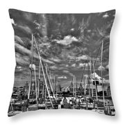 007bw On A Summers Day  Erie Basin Marina Summer Series Throw Pillow