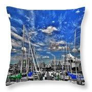 007sc On A Summers Day  Erie Basin Marina Summer Series Throw Pillow