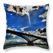 008 Peace Bridge Series II Beautiful Skies Throw Pillow