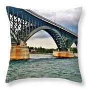 008 Stormy Skies Peace Bridge Series Throw Pillow