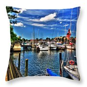 009 On A Summers Day  Erie Basin Marina Summer Series Throw Pillow