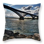 009  Peace Bridge Series II Beautiful Skies Throw Pillow