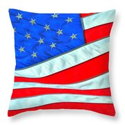 01 American Flag Throw Pillow