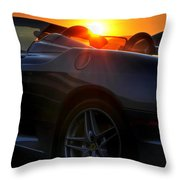 01 Ferrari Sunset Throw Pillow
