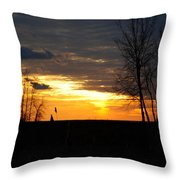 01 Sunset Throw Pillow