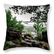 01 Three Sisters Island Throw Pillow