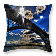 010  Peace Bridge Series II Beautiful Skies Throw Pillow