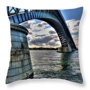 011  Peace Bridge Series II Beautiful Skies Throw Pillow