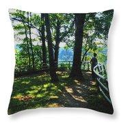 012a Niagara Gorge Trail Series  Throw Pillow