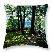 012b Niagara Gorge Trail Series  Throw Pillow