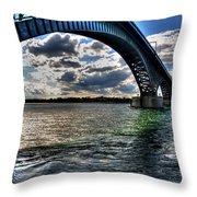 013 Peace Bridge Series II Beautiful Skies Throw Pillow