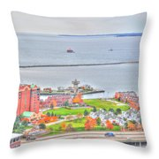 013 Series Of Buffalo Ny Via Birds Eye Erie Basin Marina Throw Pillow