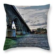 014 Peace Bridge Series II Beautiful Skies Throw Pillow
