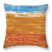 0145 Abstract Landscape Throw Pillow