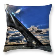 016 Peace Bridge Series II Beautiful Skies Throw Pillow