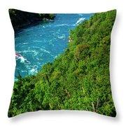 017 Niagara Gorge Trail Series  Throw Pillow