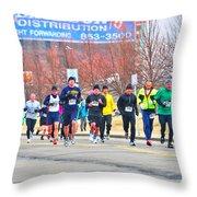 017 Shamrock Run Series Throw Pillow