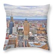02 Series Of Buffalo Ny Via Birds Eye East Side Throw Pillow