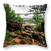 02 Three Sister Islands Throw Pillow