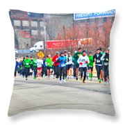 020 Shamrock Run Series Throw Pillow